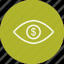 dollar, eye, vision