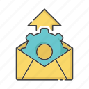 email, information, key, mail, message, strategic icon