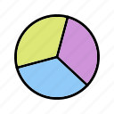 chart, graph, pie icon