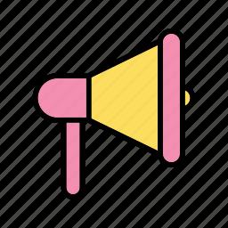 announcement, loudspeaker, megaphone icon