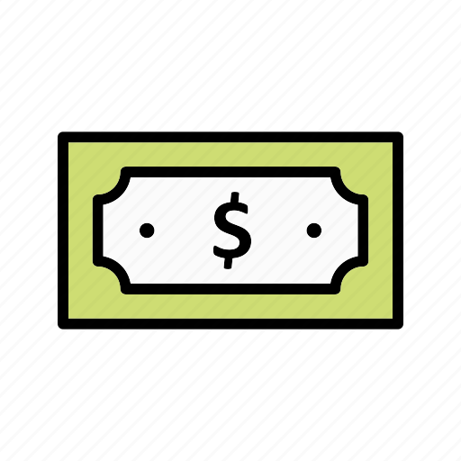 cash, note, payment icon