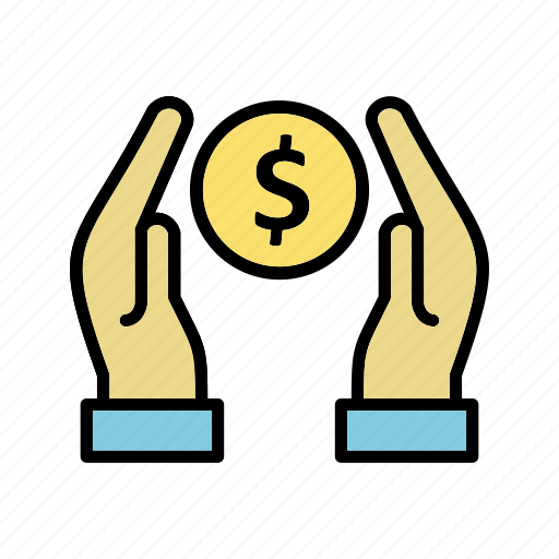 cash, charity, donation icon