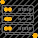data, storage, sever icon