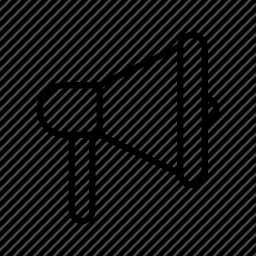 bullhorn, megaphone, sound, speaker icon