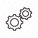 cog, setting, wheel