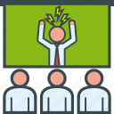 angry, boss, business, meeting, presentation, team, training icon