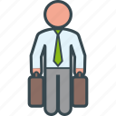 business, man, suitcases, travel, traveler icon