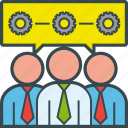 business, gear, group, office, people, process, teamwork icon