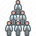 business, chart, men, organization, pyramid, structure icon