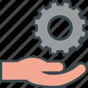 care, gear, hand, job, management, resources, work