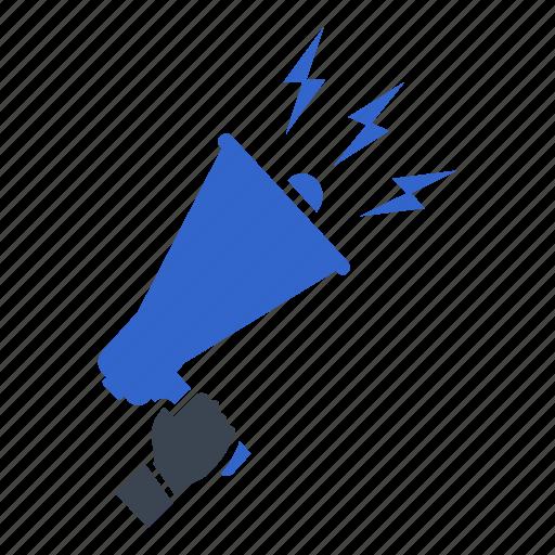 advertising, announcement, marketing, megaphone, promotion icon
