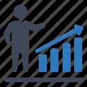 business, growth, progress, report icon