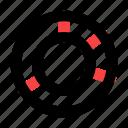 business, chart, doughnut, management, presentation icon