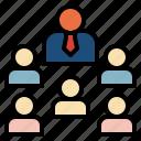 board, company, corporate, director, member icon