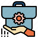 business, investment, management, process, system icon