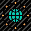 business, finance, international, management, marketing icon