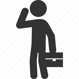 briefcase, business, businessman, male, man, management, office icon