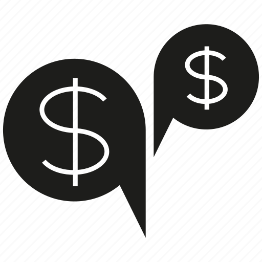 bubble, dollar, money, speech icon