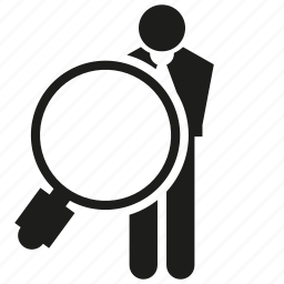 business, human resource, magnifier glass, people, recruiting, recruitment, search icon