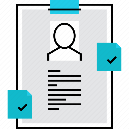 cv, document, dossier, infomation, personal, profile, resume icon