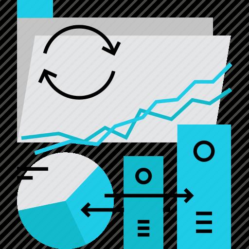 catalog, data, files, folder, network, storage, synchronize icon
