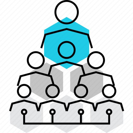 association, coalition, company, corporation, hierarchy, pyramid, structure icon