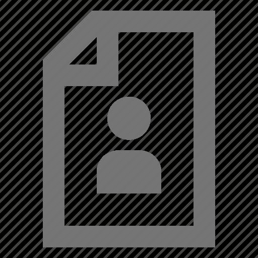 account, cv, material, person, profile, skill, user icon