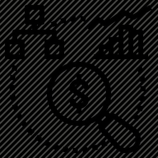 analysis, business, data, finance, process icon