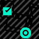 check, control, goods, inventory, stocks icon