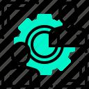 company, job, officer, position, rotation icon
