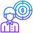 business, finance, goal, objective, target icon
