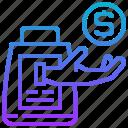 buyer, customer, money, purchaser, receive icon