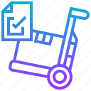 check, control, goods, inventory, stocks icon