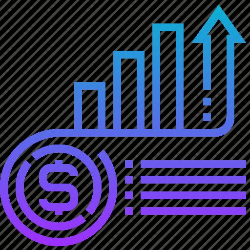 chart, market, money, price, value icon