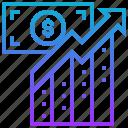 chart, economy, finance, margin, profit icon