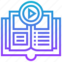 audiobook, handbook, manual, selfstudy, tutorial icon