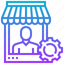dealer, merchant, seller, trader, vendor icon
