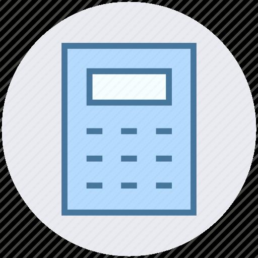 banking, business, calculate, calculator, finance, mathematics icon