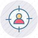 business target, focus, man, person target, target, user target icon