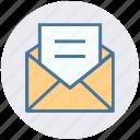 envelope, letter, mail, message, open envelope, post