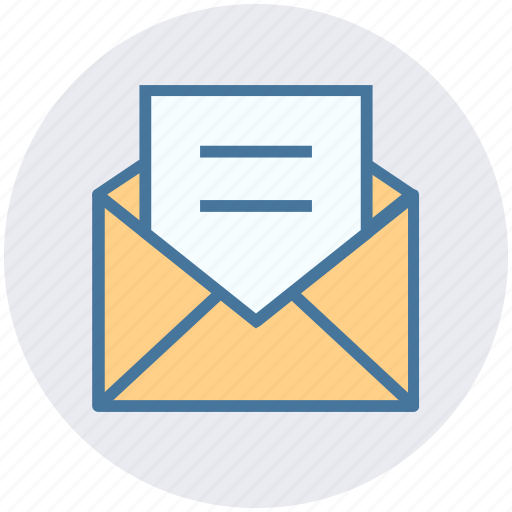 envelope letter mail message open envelope post icon