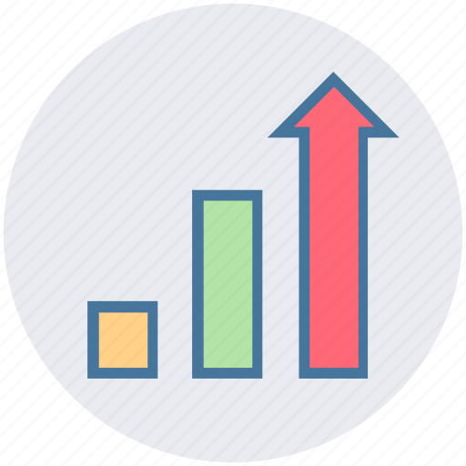 arrows, chart, forecasting, graph, growth, strategy icon