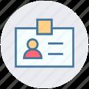 badge, card, id card, identity, people, profile, user
