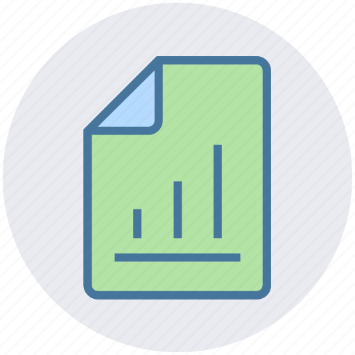 chart, diagram, document, office, page, paper, sheet icon
