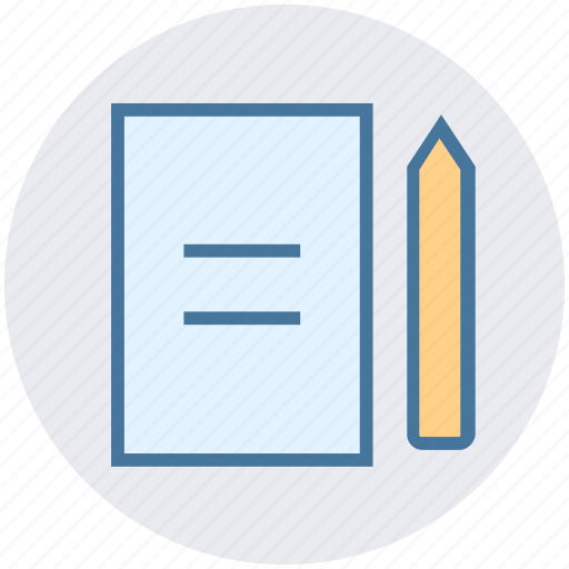 document, edit, page, paper, pencil, sheet icon