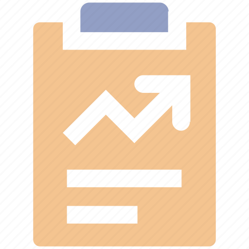 analytics, chart, clipboard, graph report, report, stats icon
