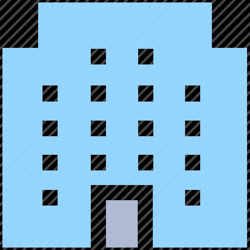building, business, enterprise, estate, office, office building icon