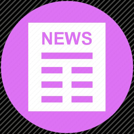Business, news, news article, newsletter, newspaper, press ...