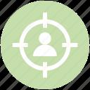 business target, focus, man, person target, target, user target icon