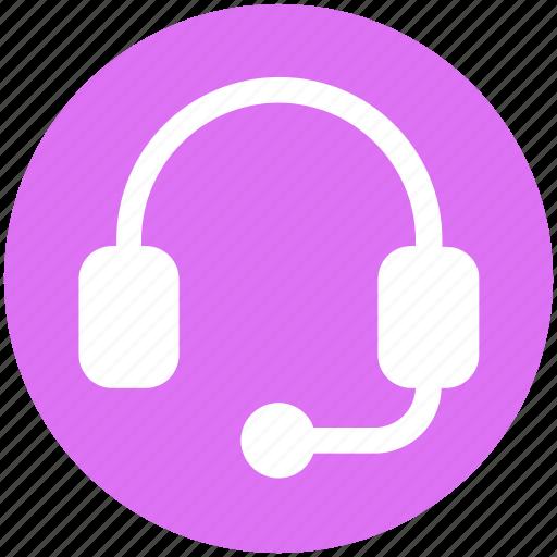 Earphone, headphone, headset, listening, telemarketer icon - Download on Iconfinder